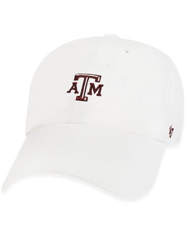 Texas A&M `47 Brand Centerfield Clean Up Cap - White - Front White