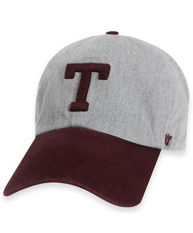Texas A&M `47 Brand Palomino Clean Up Cap - Grey and Maroon - Front Grey and Maroon