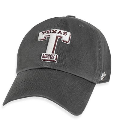 Texas A&M `47 Brand Vault T Clean Up Cap Charcoal
