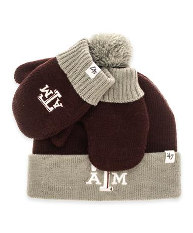 Texas A&M '47 Brand Toddler Beanie Mitten Set