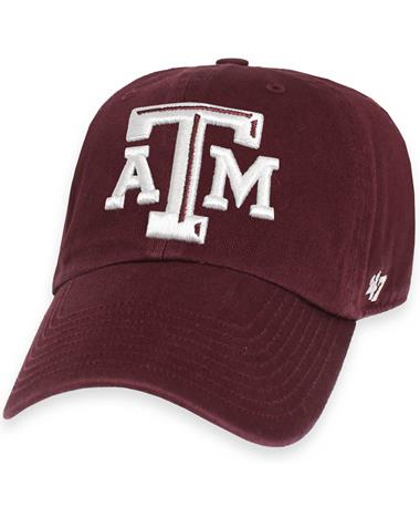 Texas A&M `47 Brand Franchise Fitted Cap - Dark Maroon - Front Dark Maroon