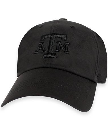 Texas A&M `47 Brand Black Repetition Cap - Front Black