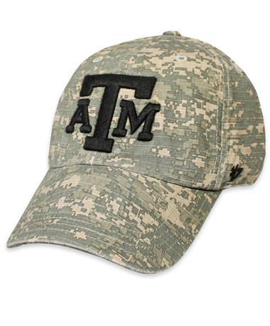 Texas A&M `47 Brand Digital Camo Nilan OHT Cap - Front Moss and Black