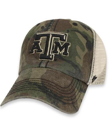 Texas A&M `47 Brand OHT Sandalwood Mesh Cap - Front Camo