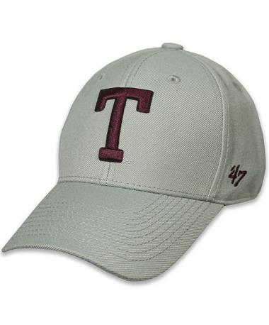 Texas A&M `47 Brand Block T Vin MVP Cap - Grey - Front Grey