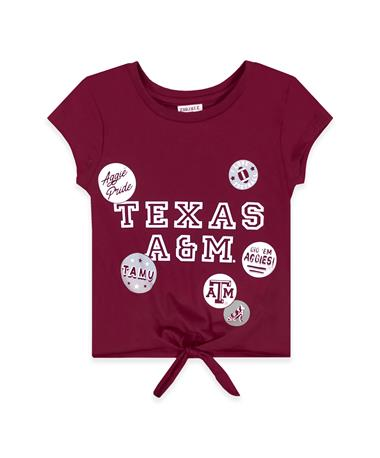 Texas A&M ZooZatz Youth Adore Front Tie T-Shirt