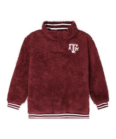 Texas A&M Youth Sherpa 1/4 Zip Jacket Maroon