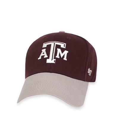 Texas A&M `47 Brand Toddler MVP Cap - Maroon and Grey - Front Maroon and Grey