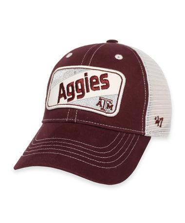Texas A&M Aggies `47 Brand Woodlawn Toddler Cap - Front Maroon and White