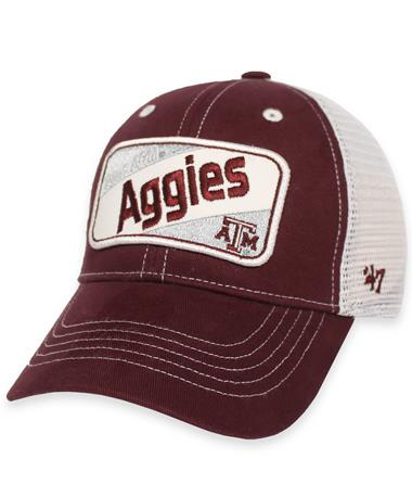Texas A&M Aggies `47 Brand Woodlawn Youth Cap - Front Maroon and White
