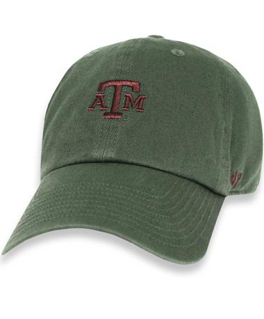 Texas A&M `47 Brand Block Base Runner Cap - Moss - Front Moss