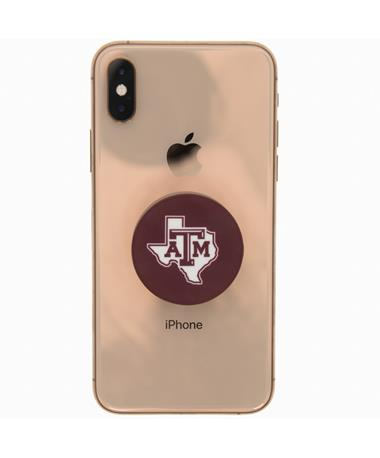 Texas A&M Lone Star Pop Socket - Maroon - On iPhone Maroon