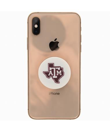 Texas A&M Lone Star Pop Socket - White - on iPhone WHITE