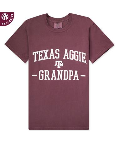 Texas A&M Aggie Grandpa Arched T-Shirt-Front Vineyard
