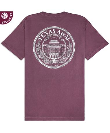 80ddfac56 Texas A&M Academic Building Seal T-Shirt - Back Vineyard