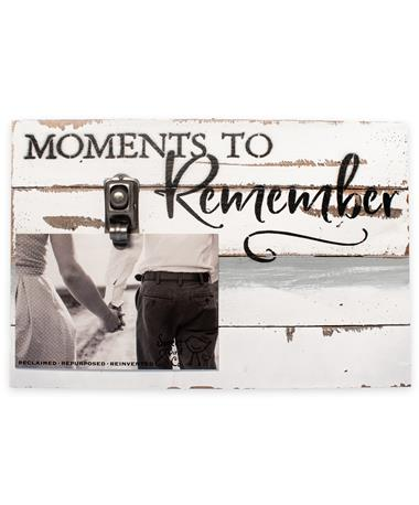 Moments To Remember Wood Clip Frame - Front multi/ wood