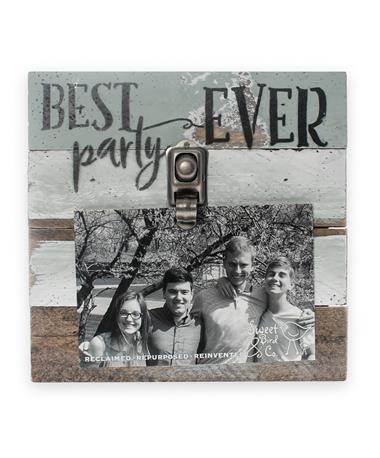 Best Party Ever Wood Clip Frame - Front multi/ wood