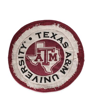 Texas A&M Circle Place Mat-Front Maroon