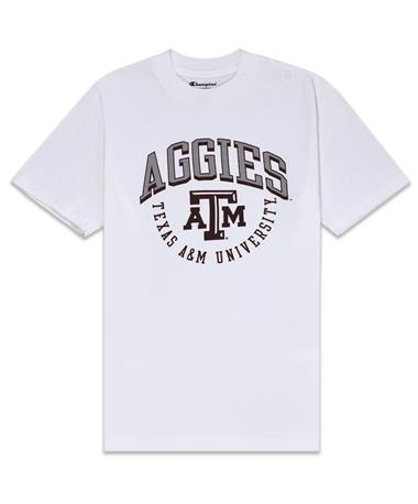 Texas A&M Aggies Champion Youth Jersey Tee - White - Front White