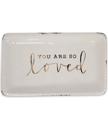 You Are So Loved Trinket Tray - Front Multi