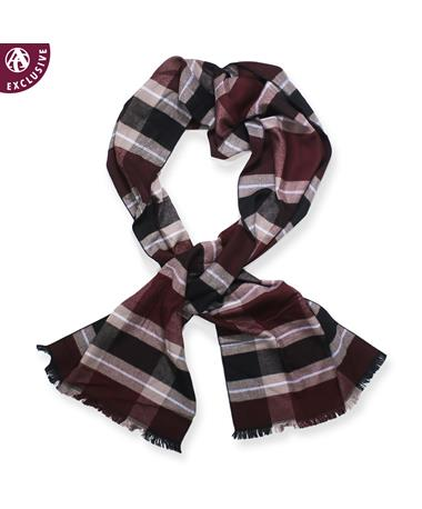 Maroon Plaid Scarf