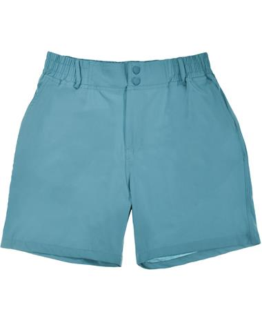 Ice Blue Trout Pocket Shorts - Front Ice Blue