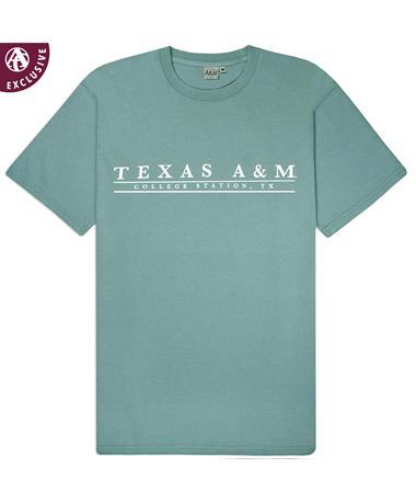 c159acca06d1 Texas A M College Station Basic Bar T-Shirt - Coastal - Front Coastal AH