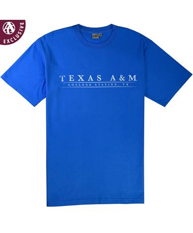 Texas A&M College Station Basic Bar T-Shirt Marine Blue AH