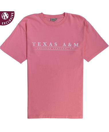 Texas A&M College Station Basic Bar T-Shirt Poppy AH
