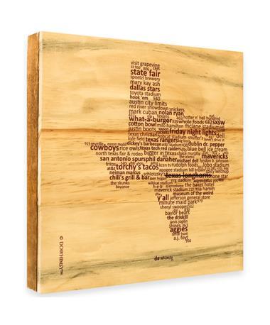 Maroon Texas Line Through Longhorns Sign