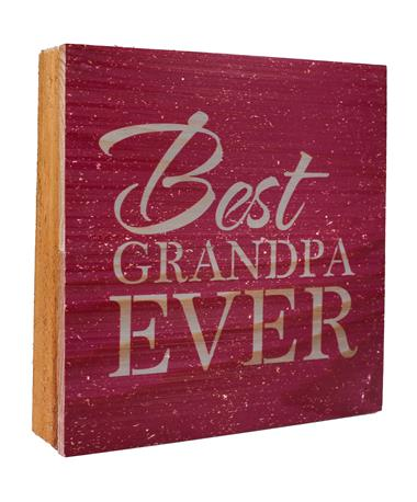 Maroon Best Grandpa Ever Sign Maroon/Grey