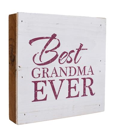 Maroon & White Best Grandma Ever Sign White/Maroon