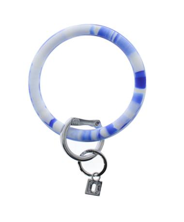 Big O Key Rings Blue Me Away Marble Silicone Blue Marble