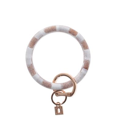 Big O Key Rings Rose Gold Marble Silicone Rose Gold Marble