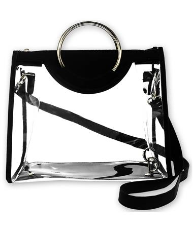 Black Clear Classic Ring Tote - Front Black