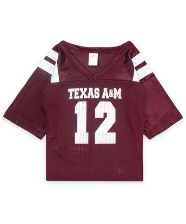 Texas A&M Lil` Ags Football Jersey - Front MAROON/WHITE