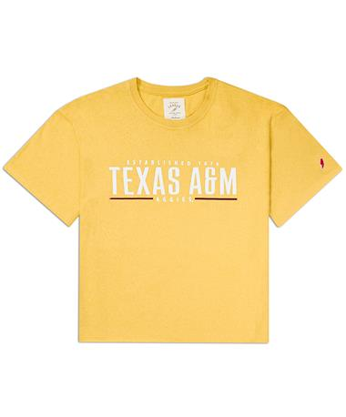 Texas A&M League Clothesline Cotton Crop Tee - Front Honey