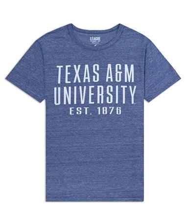 Texas A&M League Twisted Tri-Blend T-Shirt - Front Col Dark Blue