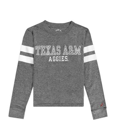 Texas A&M League Youth Long Sleeve Stripe Tee