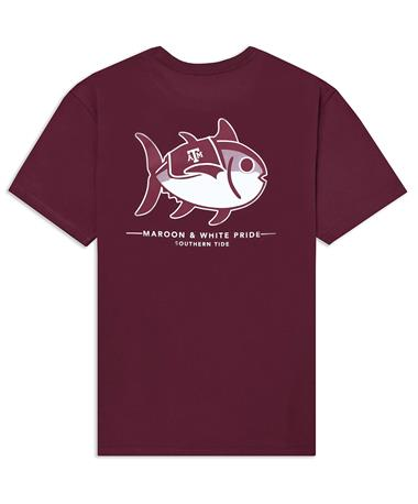 Texas A&M Southern Tide Maroon & White Pride T-Shirt - Back Chianti