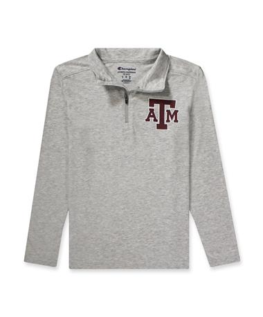 Texas A&M Youth Field Day 1/4 Zip?-Front 950 Oxford Heather
