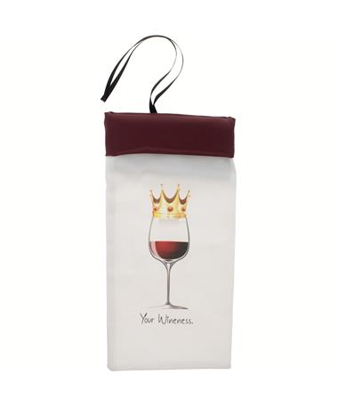 Maroon Your Wineness Wine Bag
