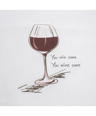 You Win Some You Wine Some Tea Towel - Front Multi
