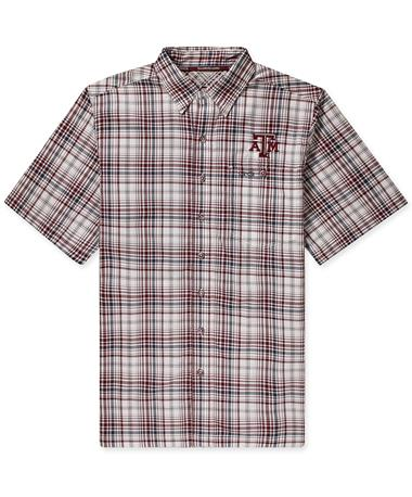 Texas A&M GameGuard Maroon Plaid Shirt