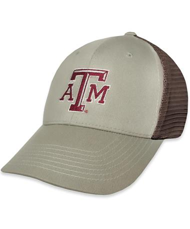 Texas A&M GameGuard Mesquite Meshback Cap - Front Mesquite/Chocolate