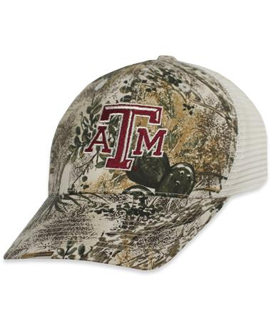 Texas A&M GameGuard Meshback Cap - Angled GameGuard Cap/ Stone
