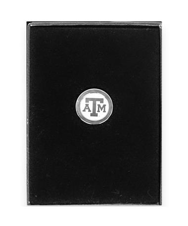 Texas A&M Block ATM Silver Lapel Pin Silver