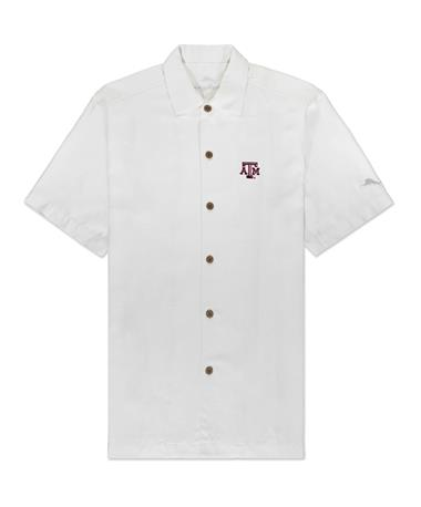 Texas A&M Tommy Bahama Al Fresco Tropics Button Down - Continental - Front Continental-569