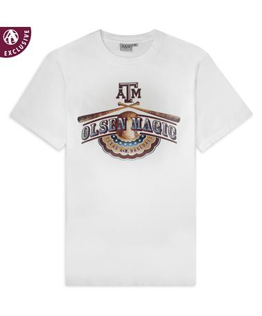 Texas A&M Olsen Magic Baseball T-Shirt White