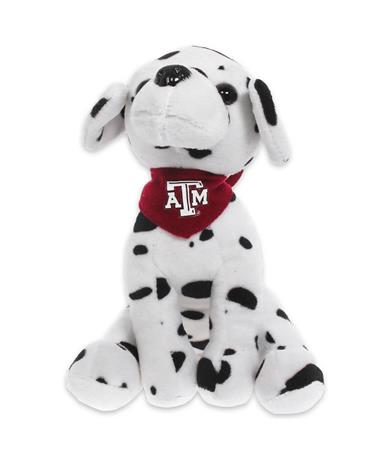 Texas A&M Plush Dalmatian - Front BURGUNDY